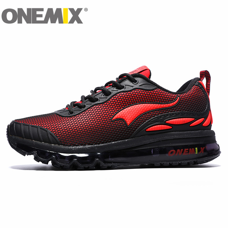 ONEMIX Running Shoes Male Wear-resistant Shock Absorption Air Shoes Male Female Sport Shoes Breathable Sneakers summer breathable air cushion fly line sports women running shoes shock absorption increase tourism shoes spring female sneakers