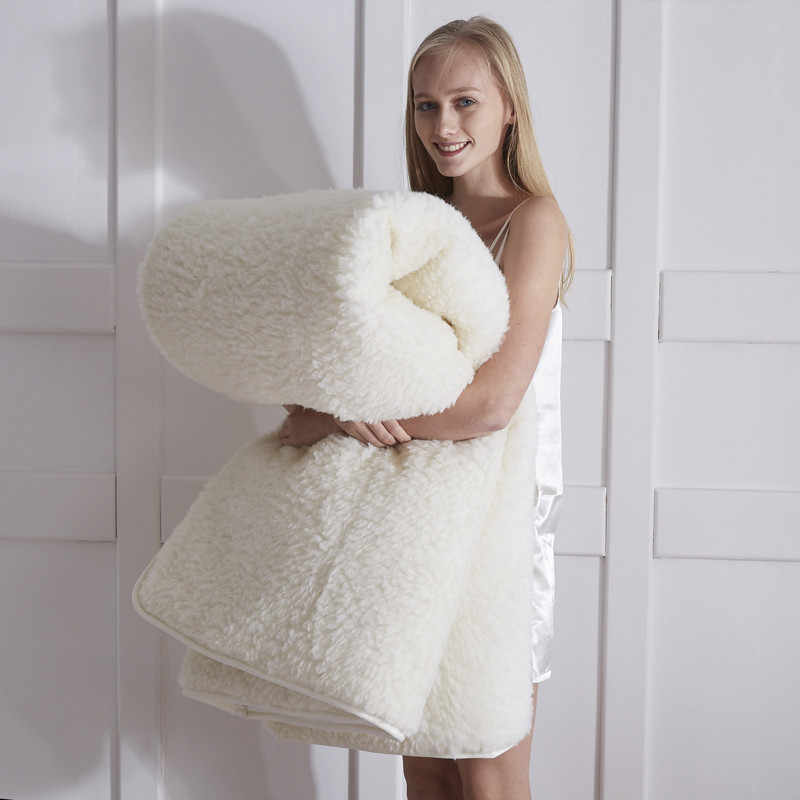 Белый шерстяной матрас Svetanya тонкий и теплый прикроватный коврик одиночный двойной queen king size