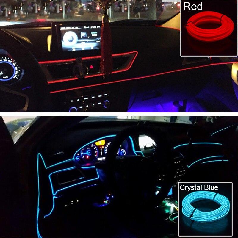 Image 5 - Лампа для салона автомобиля неоновые полосы СИД El холодный светильник Стикеры для Mazda 3 6 5 Спойлеры CX 5 CX 5 CX7 CX 7 2 323 CX3 CX5 626 M3 M5 MX5-in Наклейки на автомобиль from Автомобили и мотоциклы