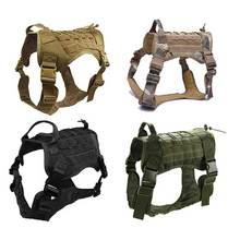 Tactical Dog Harness Training Vest Military K9 Water Resistant With Detachable Molle Pouches/Patches for Large Dogs
