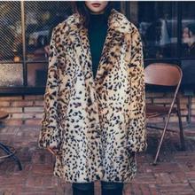 Moelleux Femmes Faux Manteau De Fourrure Léopard 2018 Hiver vetement femme  Faux Fourrure Vestes Vintage Imitation vison manteau . 483a4494614