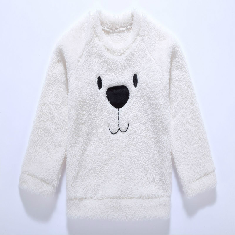 Pudcoco Sweatshirt Hoodies Blouse Baby-Girl Kids Boy Cute Thick Bear Warm Cashmere Top