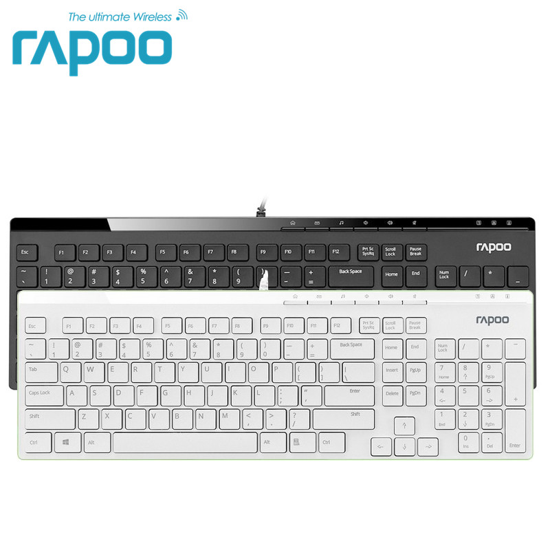 Original Rapoo N7000 Wired Gaming Keyboard Ergonomic design Teclado with Russian letter keyboard stickers for Desktop Laptop ru keyboard stickers cover letter russian english spanish non transparent universal replacement keyboard stickers for laptops