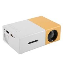 YG300 Mini taşınabilir projektör LCD LED projektör HDMI USB AV SD 400 600 lümen ev sinema çocuk eğitim için Beamer HD projektör