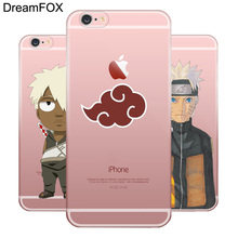 Naruto Transparent Silicone Case For Apple iPhone 7 6 6S Plus 5 5S SE 5C 4 4S