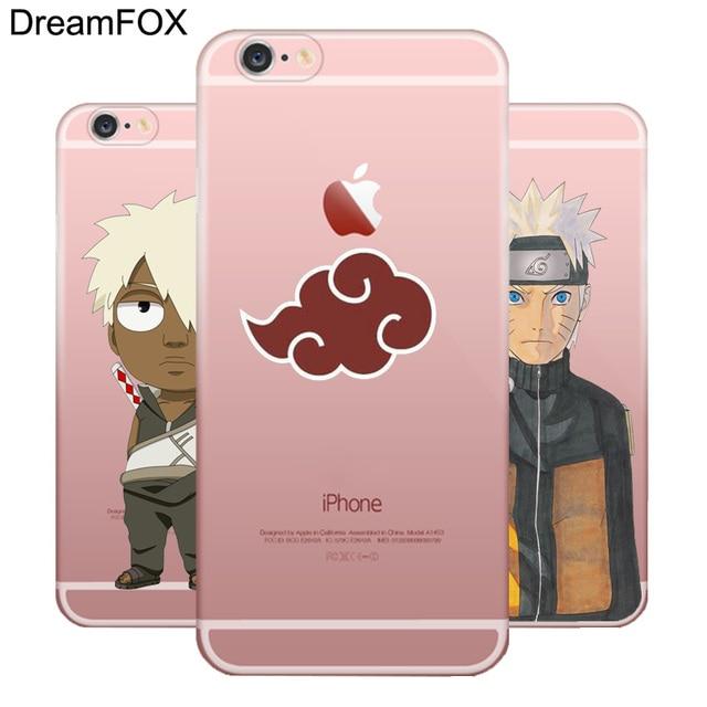 Naruto Transparent Silicone Case For Apple iPhone 7 6 6S Plus 5 5S SE 5C 4 4S