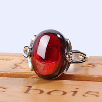 RADHORSE 925 Silver Rings for Women Fine Jewelry Thai silver Ruby palace Retro classic style Adjustable Ring