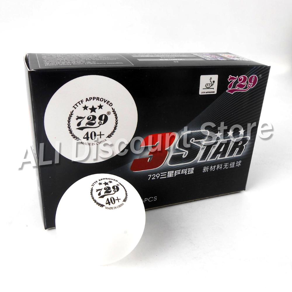 ITTF APPROVED 729 Friendship 3-Star Seamless 40+ Plastic Table Tennis Balls New MaterialPoly Ping Pong Balls 6pcs/box