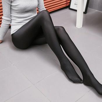 Lady street casual solidne pełne spodnie błyszcząca czysta czerń stretch ołówkowe legginsy mujer slim fitness leginsy leginsy damskie spodnie tanie i dobre opinie WOMEN NYLON spandex POLY Popelina Kostek Streetwear Stałe cpant072 Niskie Cienkie
