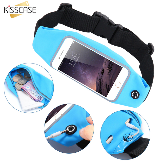 KISSCASE Waterproof Outdoor Running Sport Waist Bag Case For Samsung Galaxy S8 S7 Edge Xiaomi Redmi 4 pro Mi5S Huawei P8 P9 Lite