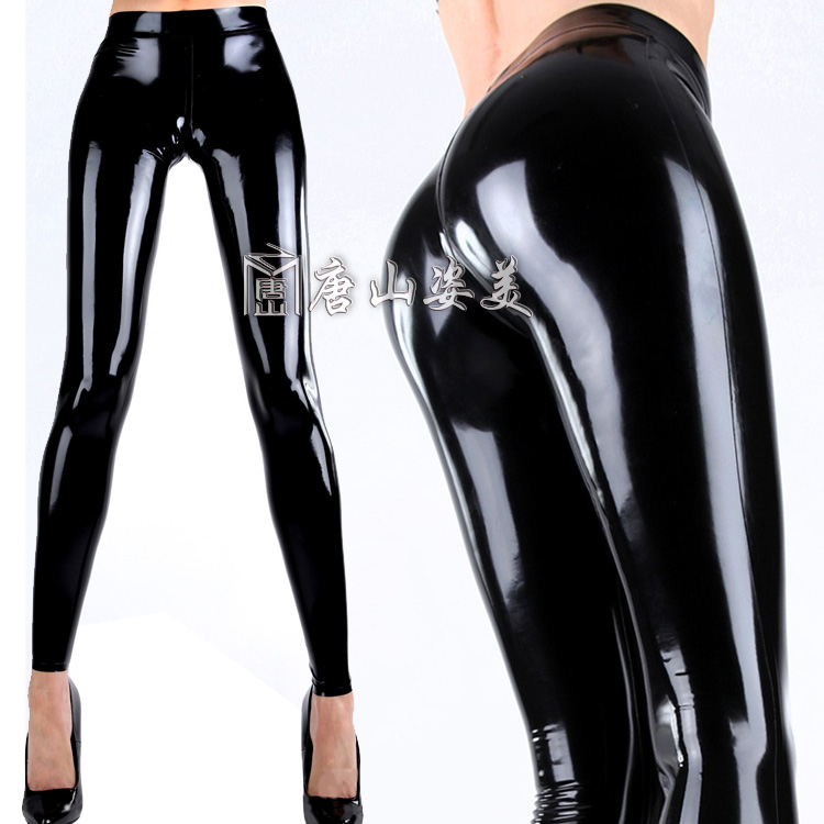 Latex Leggings Women Sexy Skinny Rubber Legging Customized
