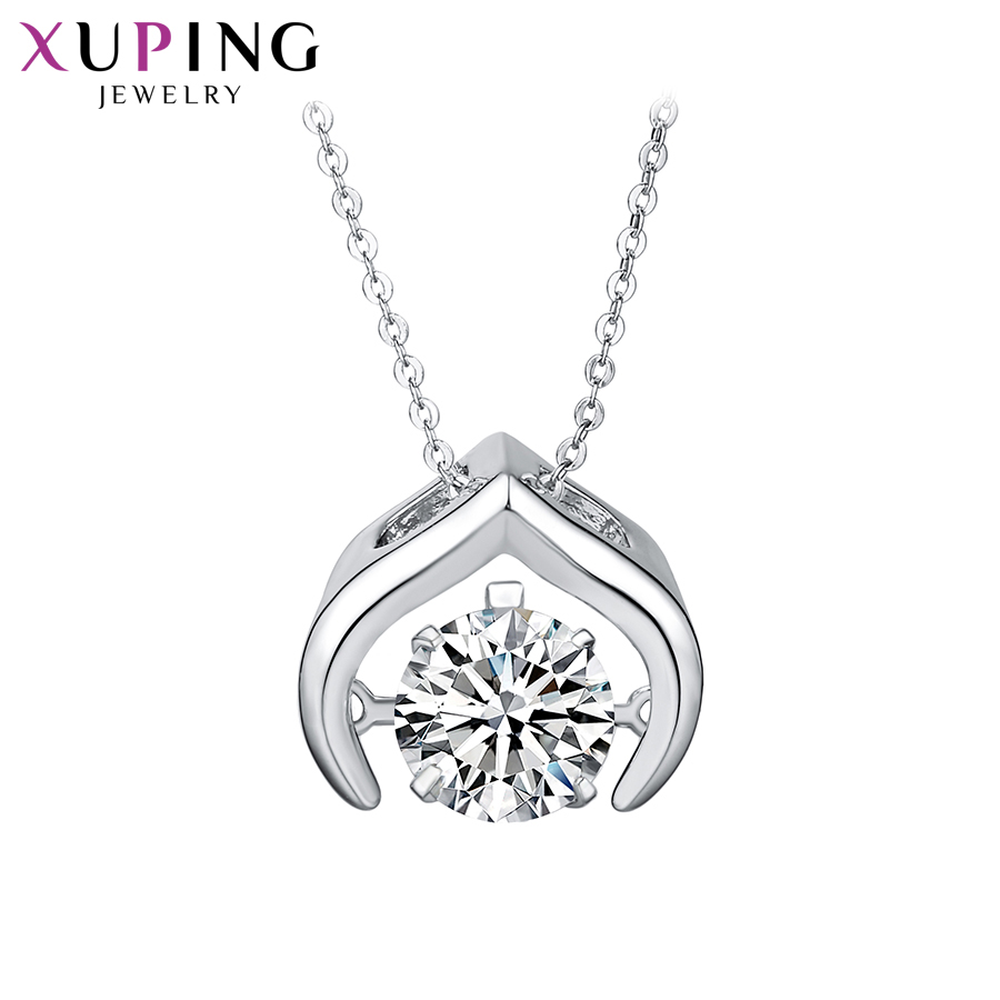 11.11 Deals Xuping Jewelry Exquisite Necklace Charm Style With Synthetic CZ for Women Pa ...