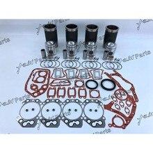 Комплект для ремонта деталей двигателя, поршневой+ поршневое кольцо+ комплект прокладок, для D924-TI