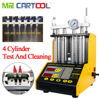 Mr Cartool CT150 Fuel Injector Cleaning Machine Testers 4 Cylinder Ultrasonic Common Rail Injector Tester Repair Kit Cleaner