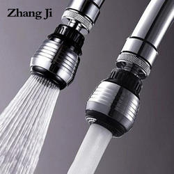 ZhangJi кухонный аэратор 2 режима 360 градусов Регулируемый фильтр для воды диффузор воды экономичная насадка шланг для душа душ