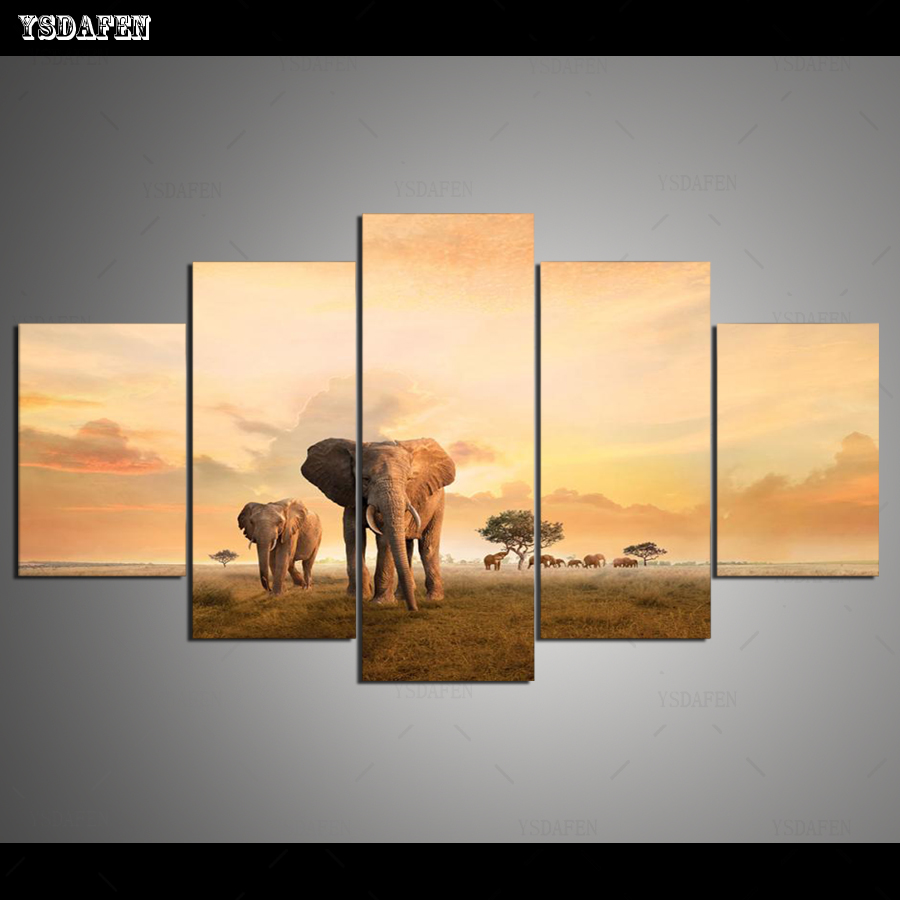 HD print olieverf Film modulaire foto Scenery  poster kind room decor woondecoratie 5 stks canvas art z592