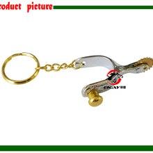 Цинковое кольцо с изображением лошади snaffle бит брелок, с уплотнительным кольцом. серебряный цвет(SK008