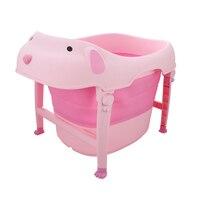 Verdickt Großen Klapp Kinder Baby Badewanne Nette Badewanne Kind Plastik Komfortable Baby Wannen Bad Dusche Produkte Babypflege