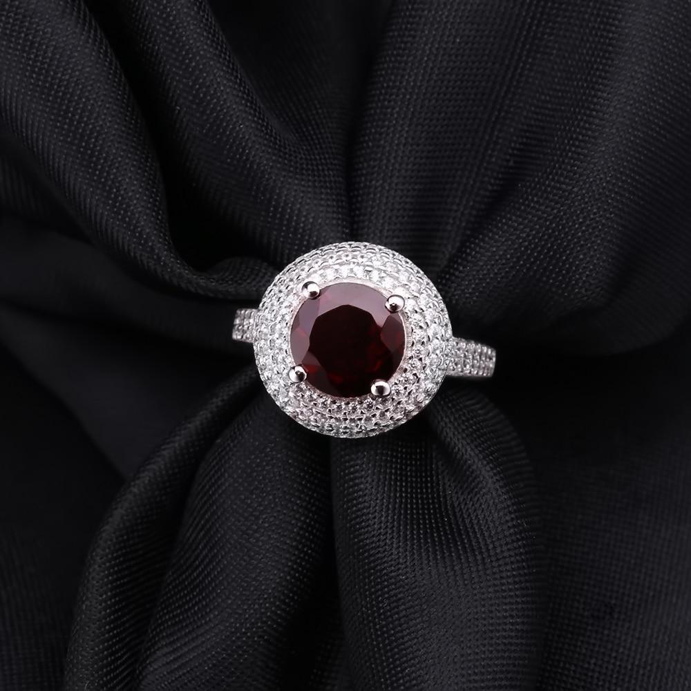 Image 4 - Gems Ballet 3.15Ct Natural Red Garnet Gemstone Ring 925 Sterling  Silver Engagement Cocktail Rings For Women Fine JewelryRings   -