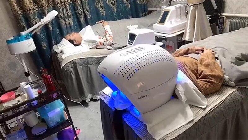 7 cores led máscara facial luz fototerapia
