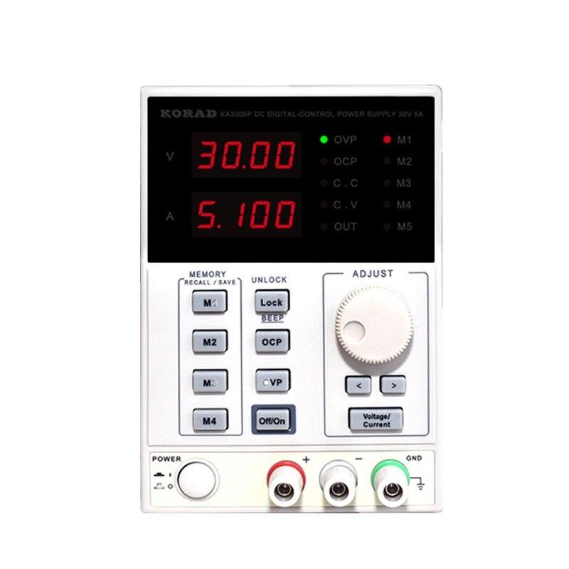KA6005P Maintenance de l'ordinateur portable à affichage numérique Programmable linéaire 60V5A avec alimentation régulée en courant continu réglable