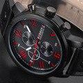 2016 nova Curren última moda relógios de quartzo homens Hour Dial Analog Watch PU Leather Strap & data de exibição do esporte relógio relógio dos homens