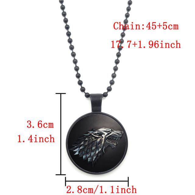 Nine Style Game of Thrones Black Bead Necklace Jewelry