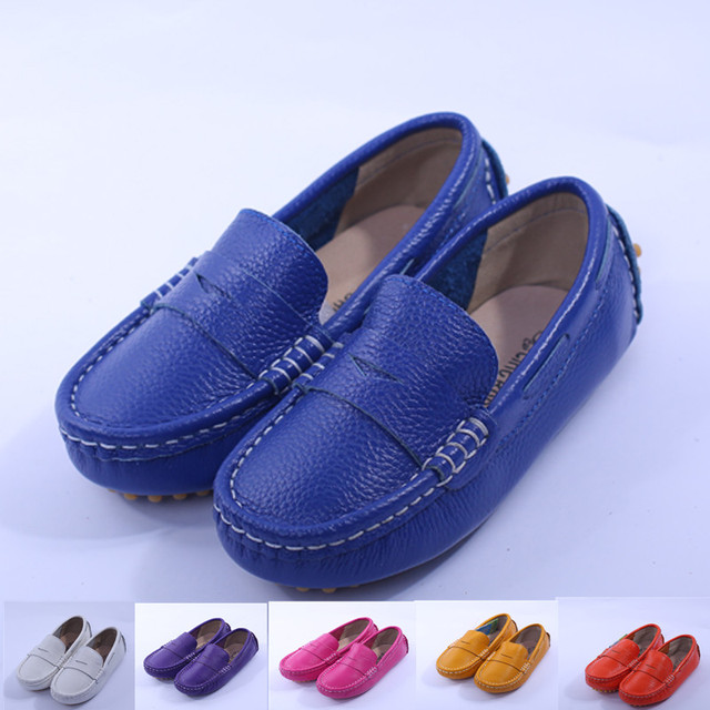 2013 children shoes child leather shoes girls boys shoes child gommini loafers genuine leather cowhide