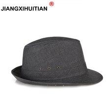Hats Fedora Jazz Panama Vintage Womens Unisex Men's Gangster Flax Dance-Cap Gift Dad