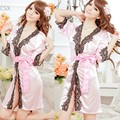 2013 New Arrival Women's Lace Robe Pajamas Nightgown Sexy Lingerie Night Dress Nightwear+ G-String 24