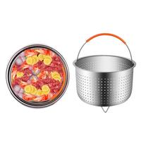 Kitchen 6 Quart Steam Basket Stainless Steel Steam Pot 21.5 Cm Steam Rice Cooker and Silicone Handle Popular Cookware