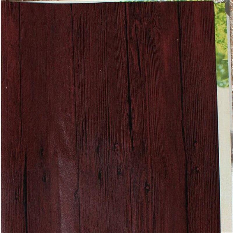 Купить с кэшбэком beibehang Imitation wood-grain wood floor wallpaper Chinese-style retro wood texture bar restaurant clothing store wholesale res