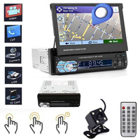 Universal 1DIN 7inch Car MP5 Player Slip Down Car Stereo Built in GPS Preinstall Map Navigation FM Bluetooth MP5 Player