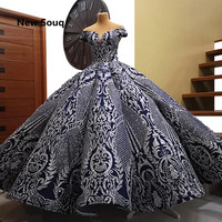 African Kaftans Puffy Formal Evening Dresses Luxury Aibye Off The Shoulder Prom Dress Robe De Soiree Dubai Islamic Party Gowns