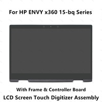 FHD LCD Display Screen Touch Glass Digitizer Assembly For HP ENVY x360 15 bq100nd 15 bq003au 15 bq100au 15 bq002au 15 bq101tu