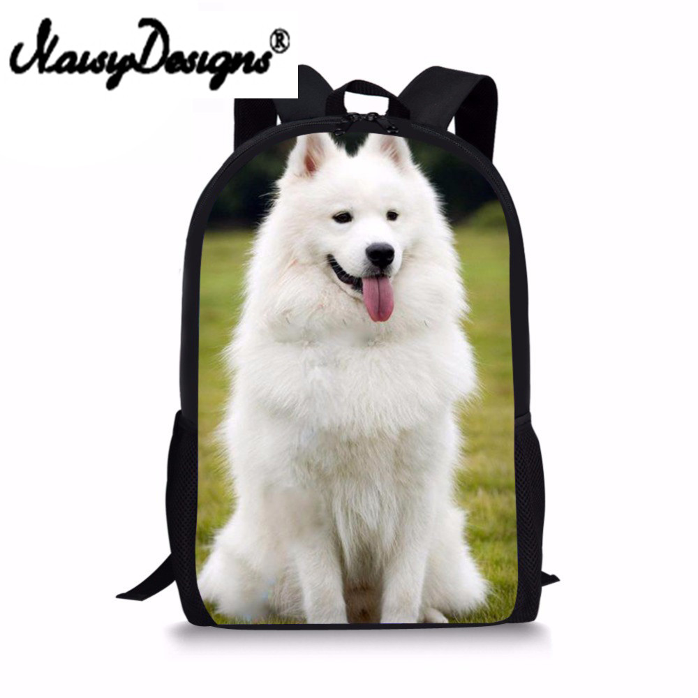 Backpack for Girls 3D Schnauzer Husky Printed Backpacks Children Canvas Back Pack Preppy ...