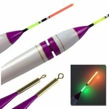 1Pcs 4g 7.8g #1-#3 LED Fishing Floats Balsa Wood Lighting Electronic Fishing Float Rock Saltwater Sea Luminous Fishing Bobber