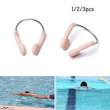 Прочный нескользящий мягкий силиконовый стальной зажим для носа для плавания, дайвинга, водных видов спорта, зажим для носа, цветные аксесс...