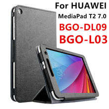 Case For Huawei MediaPad T2 7.zero Protective Smart cowl Faux Leather Tablet For HUAWEI BGO-DL09 BGO-L03 PU Protector