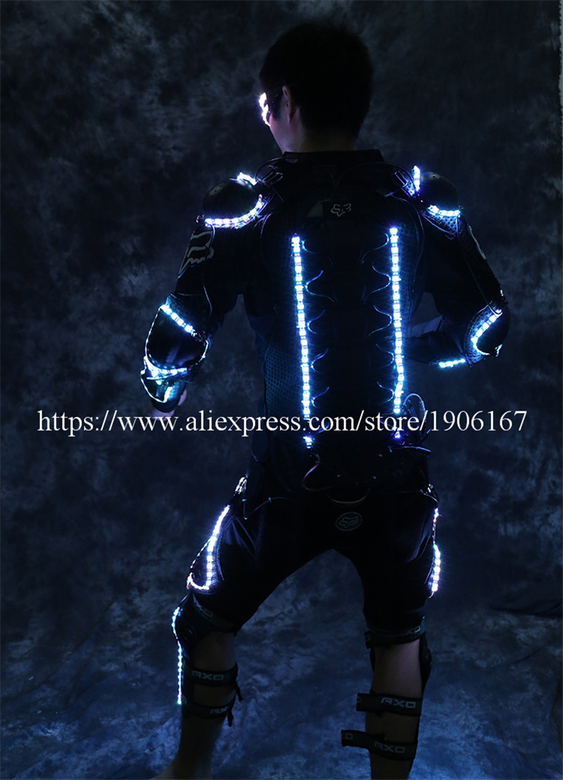 New Arrival Fashion LED Armor Light Up Jackets Costume Glove Glasses Led Outfit Clothes Led Suit For LED Robot suits4