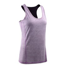 Women Summer Sexy Round Collar Solid Color Running Stretch Gymnastics Bodybuilding Yoga Slim Casual Vest