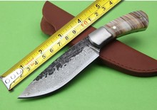 Collection Hand-forged Tactical Fixed Knives,Shell Handle Camping Survival Knife,Hunting Knife.