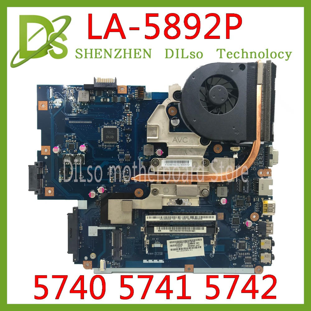 KEFU LA-5891P LA-5893P LA-5894P Motherboard For Acer 5740 5741 5742 LA-5892P Motherboard Test Work 100% Original