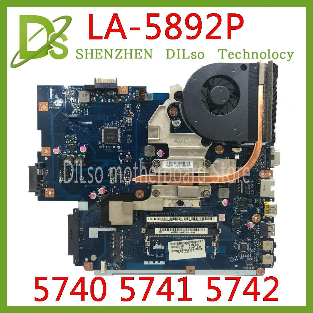KEFU LA-5891P LA-5893P LA-5894P Motherboard For Acer 5740 5741 5742 LA-5892P Motherboard Test Work 100% Original