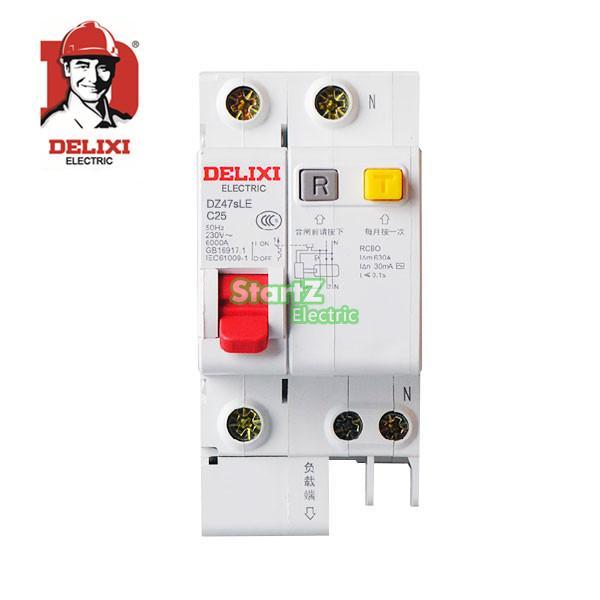 Circuit Breaker 10A 16A 20A 25A 32A 40A 63A 1 p + N RCBO RCD DE47sLE DELIXI