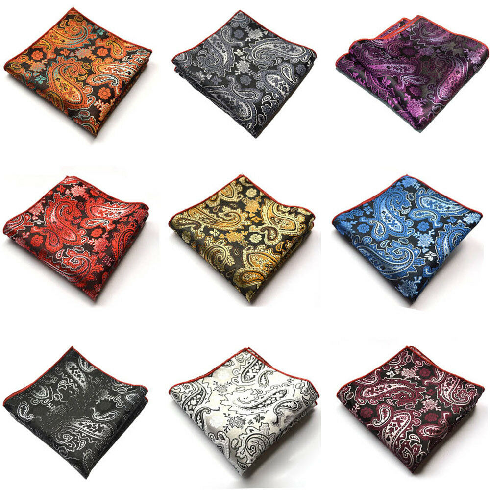 Men Classic Paisley Floral Handkerchief Pocket Square Wedding Party Hanky NEW YXTIE0507