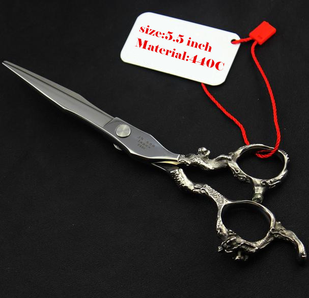 Купить с кэшбэком profissional 440C 6.0 5.5 inch hair scissors thinning cutting hairdressing scissors shears scissor set styling tools Free Ship