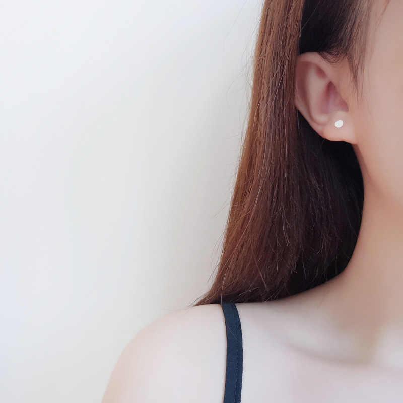 Fashion Warna Perak Mencegah Alergi Bulat Anting-Anting Anting-Anting untuk Wanita Pernikahan Anting-Anting Perhiasan Brincos B016