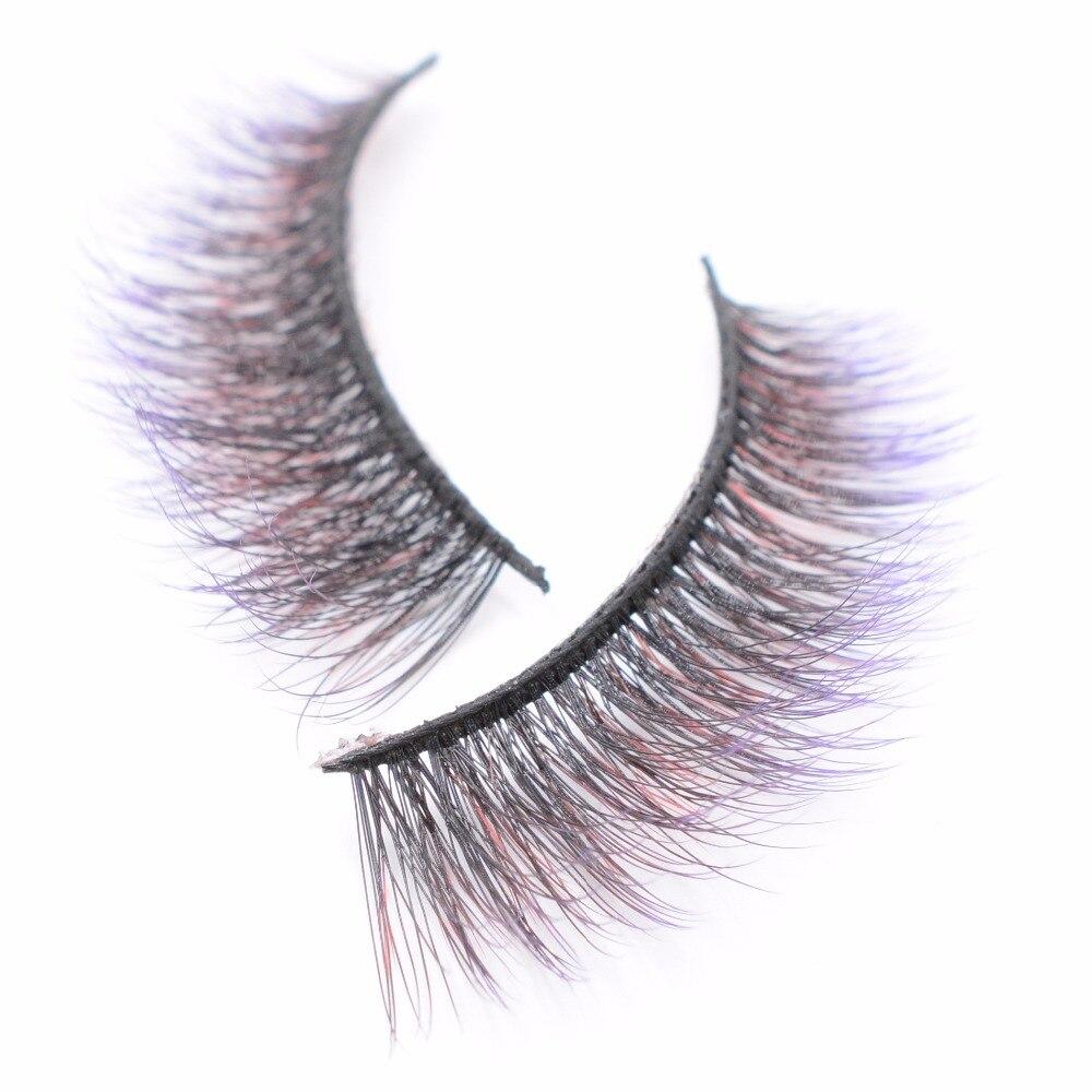 Yokpn Purple Black Cross False Eyelashes Exaggerated Thick Mink Fake Eyelashes Stage Performance Makeup Mink Eye Lashes T-168 False Eyelashes Beauty Essentials