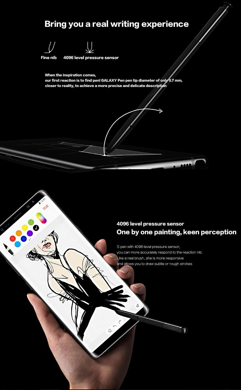 5Samsung Galaxy Note 8 Pen Touch S pen stylus S Pen Stylus Active Pen Needle Original Note8 N950 N950F N950FD N950U N950N N950W